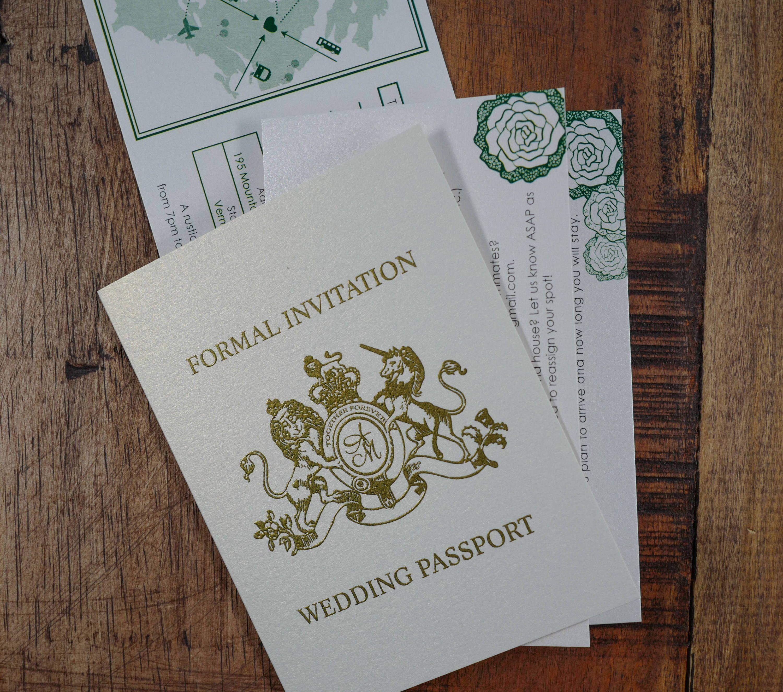 PassPort Invitations, Destination Wedding invitation