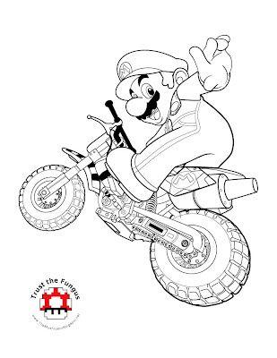 Mario Kart Wii Coloring Pages Super Mario Coloring Pages Mario