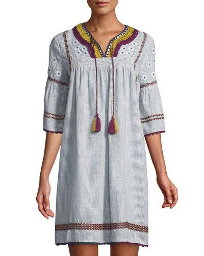 a6fb6b9e7 TX3VQ Neiman Marcus Embroidered Peasant Shift Dress | What I Think ...