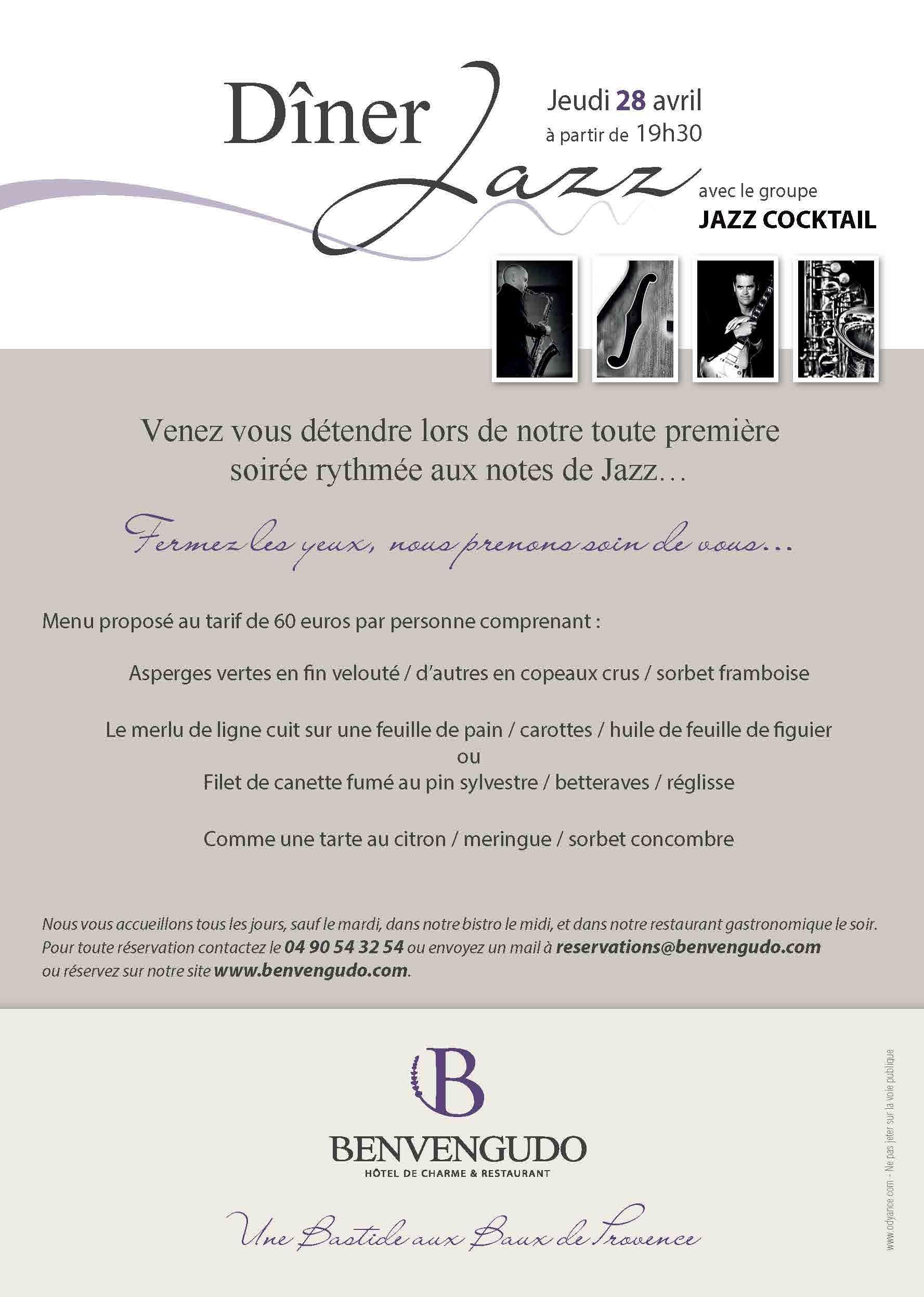 Réalisation de flyers pour les soirées Jazz organisées à l\'Hôtel ...