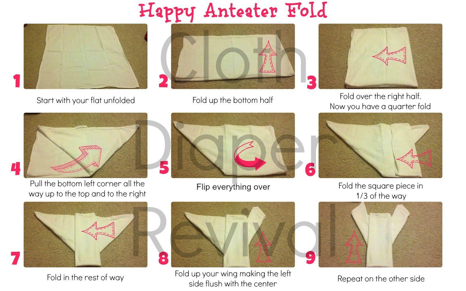 Cloth diaper revival how to fold a flat diaper happy anteater cloth diaper revival how to fold a flat diaper happy anteater fold pooptronica