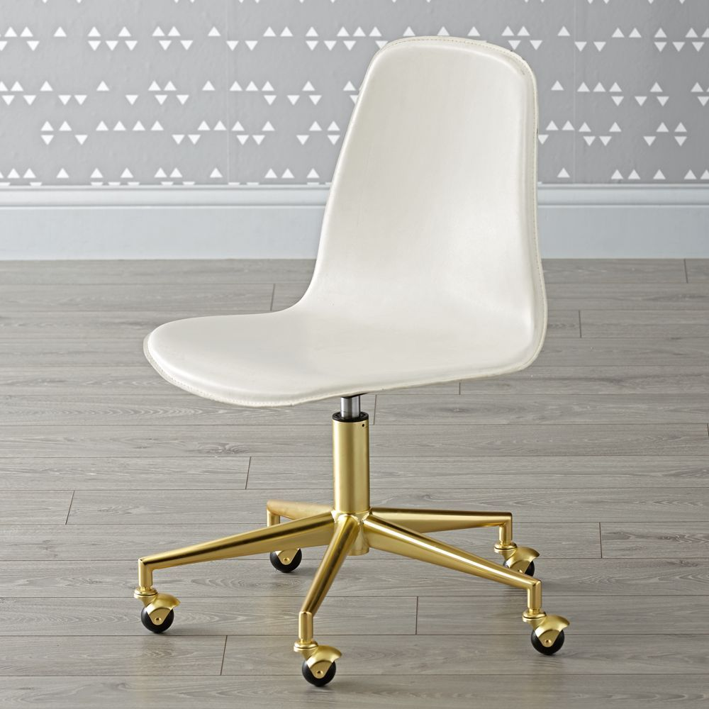 Strange Class Act White Gold Desk Chair In 2019 Products White Ibusinesslaw Wood Chair Design Ideas Ibusinesslaworg