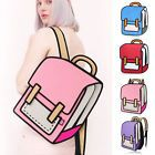 3D Jump Style 2D Drawing From Cartoon Paper Shoulder Bag Comic Backpack Bookbag #ad