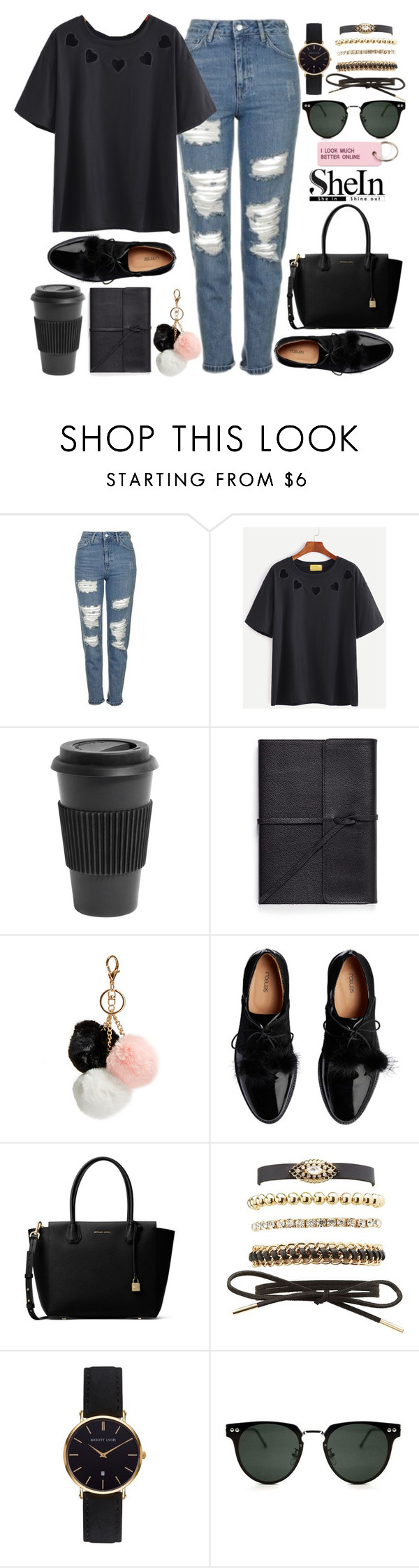 """""""silence"""" by xconstancax ❤ liked on Polyvore featuring Topshop, Homage, Bynd Artisan, GUESS, MICHAEL Michael Kors, Charlotte Russe, Abbott Lyon, Spitfire and Various Projects"""