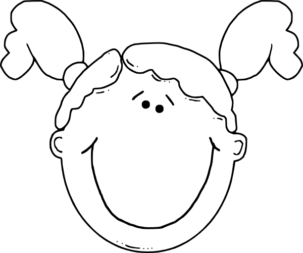 Kid Face Clipart Black And White Clipart Panda Free Clipart Images Free Clip Art Girl Face Cartoon Girl Drawing