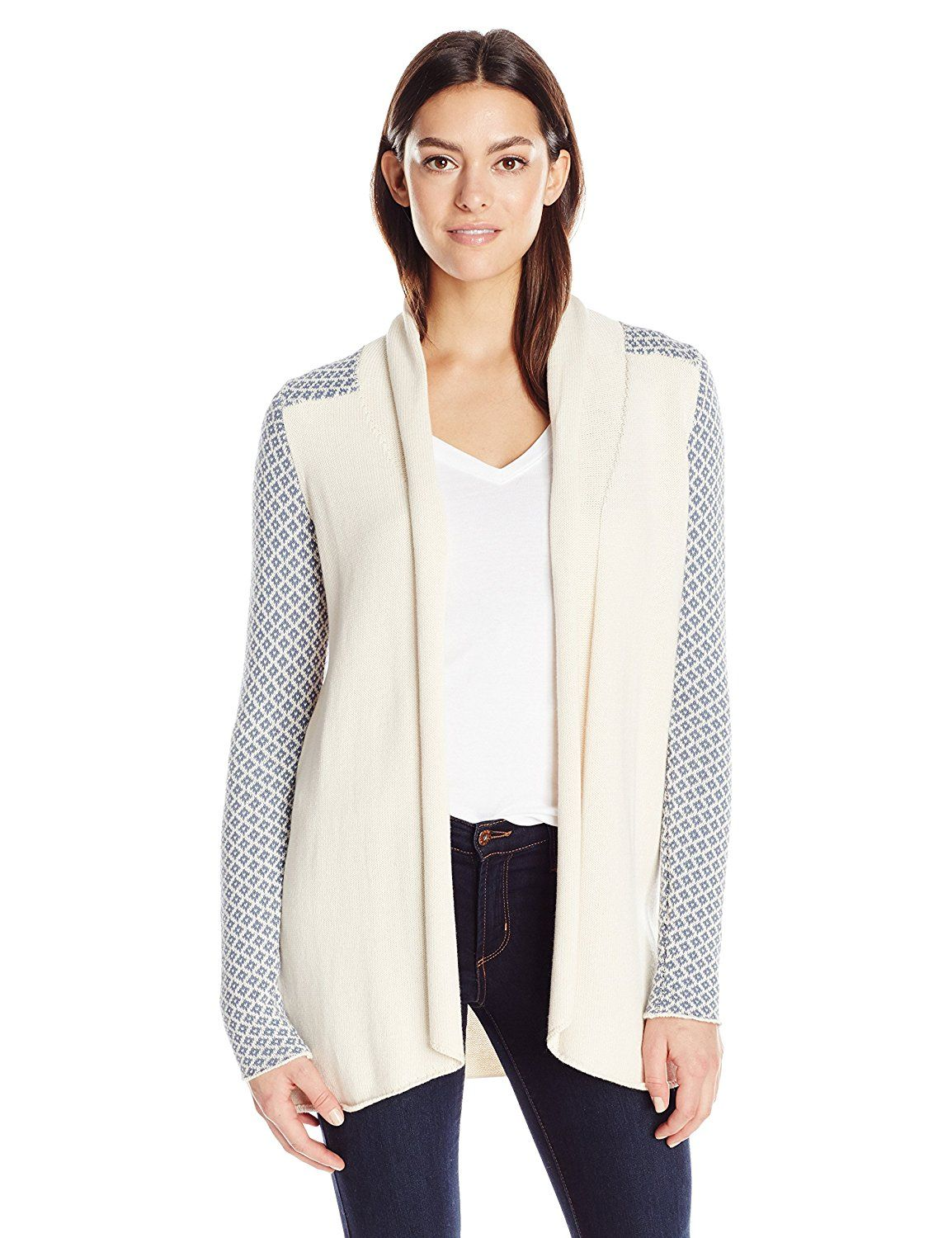 Aventura Women's Gabby Open Cardigan Sweater, Whisper White, Small ...