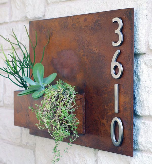 A warm welcome to your home - Fence/Wall numbered planter boxes by Urban Mettle