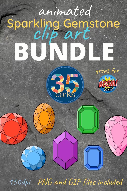 Animated Sparkling Gemstone Clip Art Bundle