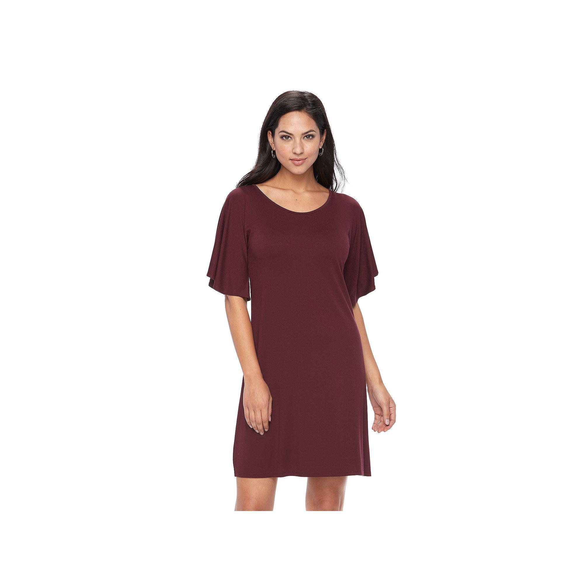 Women's Apt. 9® Flutter Shift Dress, Red