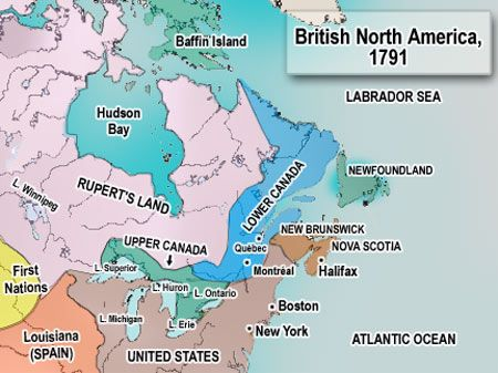 Map Of Canada 1850.Communities In Canada 1780 1850 Grade 3 Social Studies