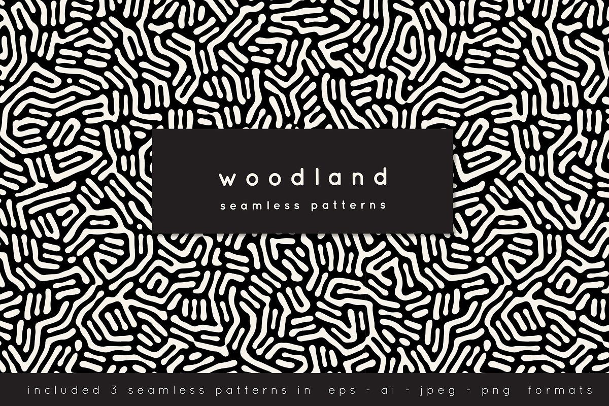 Woodland Seamless Patterns Set in 2020 Pattern, Graphic