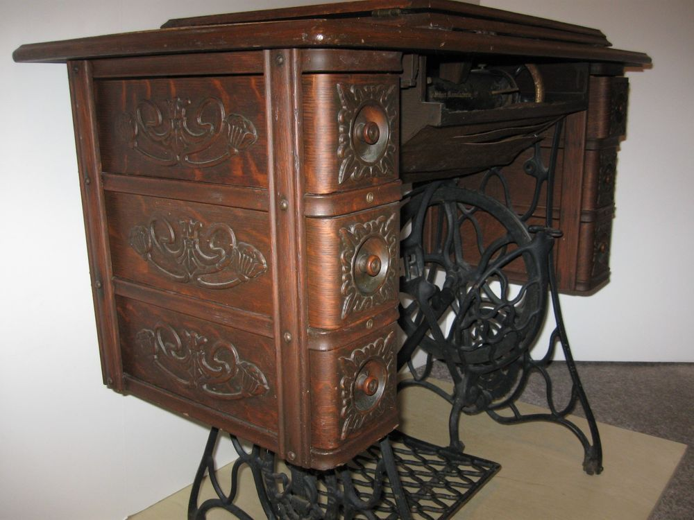 1908 Singer Treadle Sewing Machine and Ornate 6 Drawer Cabinet - ALPHA WOMAN Fat Burner - Weight Loss Supplement For Women, 4-In-1