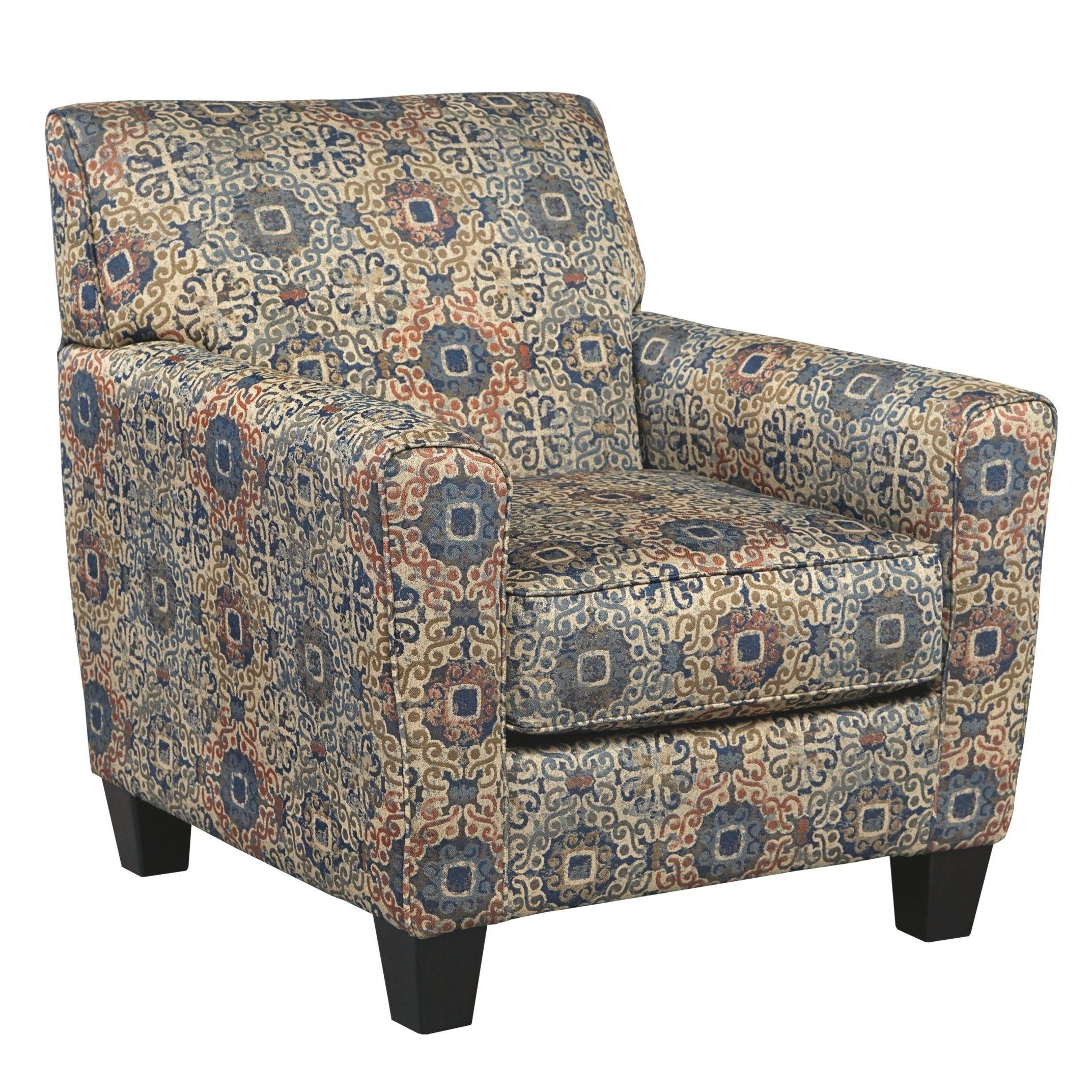 Signature Design By Ashley Belcampo Rust Fabric Chair Orange