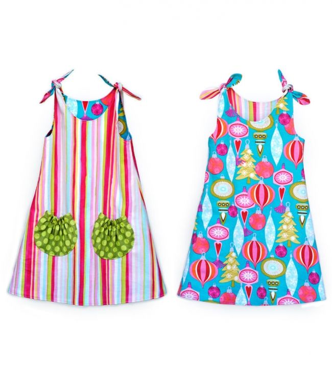 Tie Top Dress Pattern. Girls Dress Pattern. PDF Sewing Pattern and ...