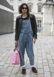 Styled dungarees for men.