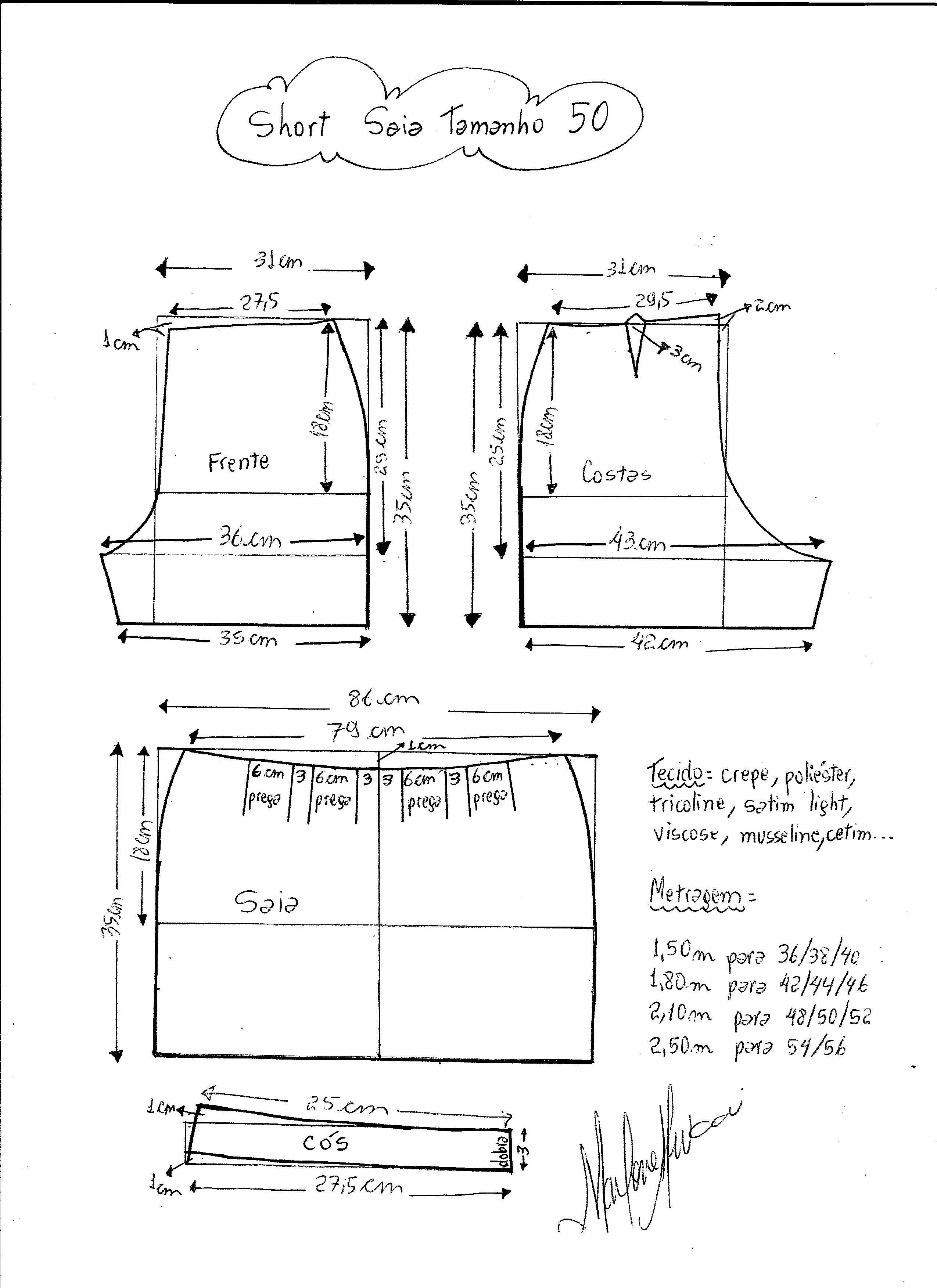 Patrón Short falda | costura | Pinterest | Sewing, Shorts and Sewing ...