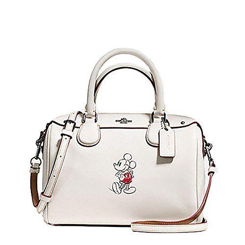 a0b392290ab Disney x Coach. Coach Mickey Mouse Leather Mini Bennett Cross Body Purse