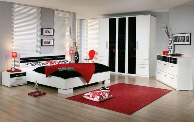 Red And White Rooms Design Black Bedroom