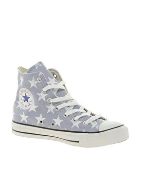 Star Dainty White High Top Trainers
