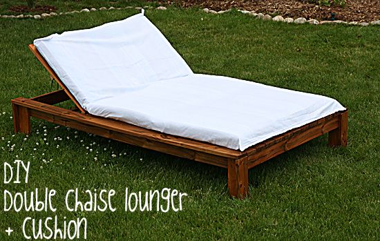 Diy Double Chaise Lounger And Cushion And Cover For 130