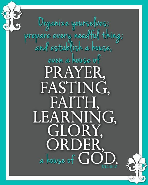 Establish A House Of Prayer Fasting Faith Learning Glory Order