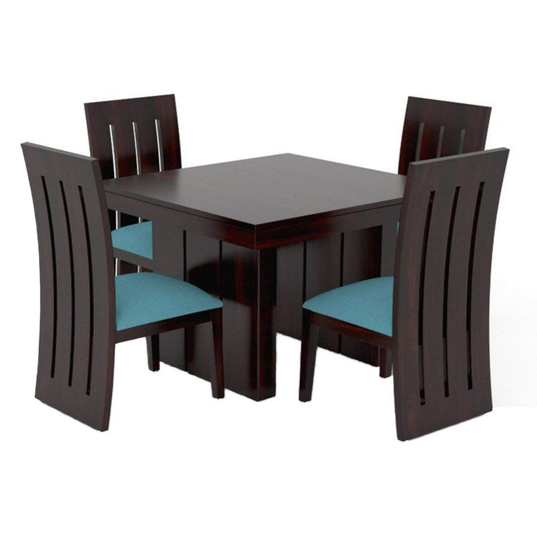 Mamta Decoration Sheesham Wood 4 Seater Dining Table Set With Cushioned Chairs Wood Dining Table Dining Room Sets Dinning Room Sets