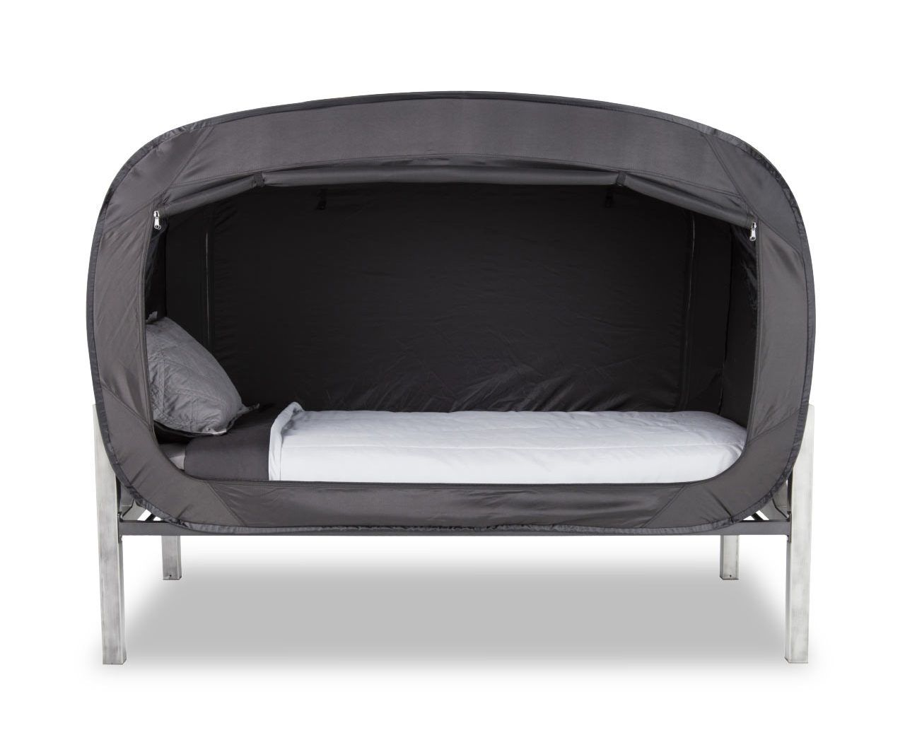 Could you use a little more coziness when curling up for a nap? Privacy Pop has come up with the Bed Tent, a portable enclosure that works with your current mattress and bed frame to give you better rest.
