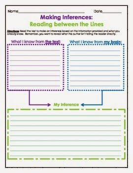 Inference Practice Passages with Graphic Organizer - The Owl Teacher