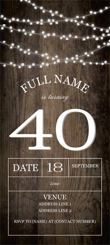 Personalized Invitations Announcements Designs Adult Birthday