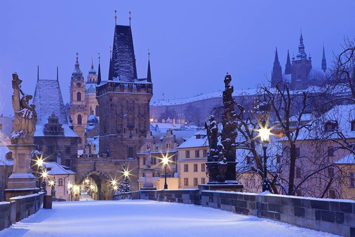 snow Prag-zasněžená Praha