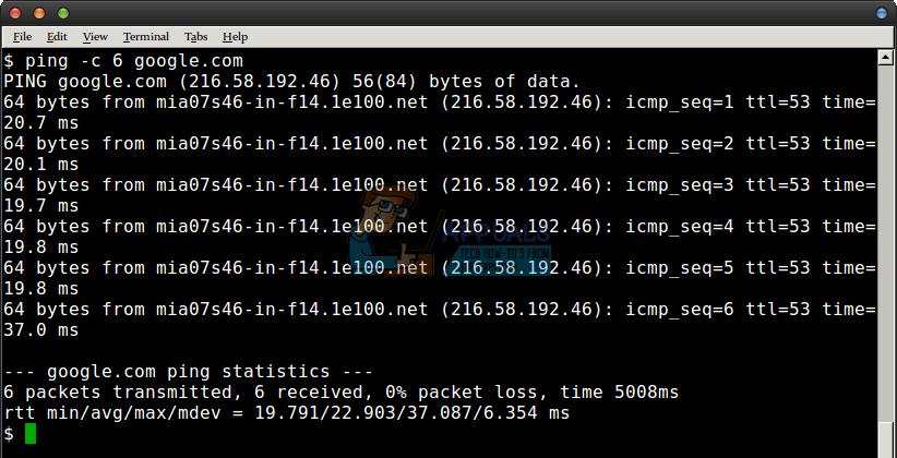 The ping command sends an ECHO_REQUEST to a remote server in