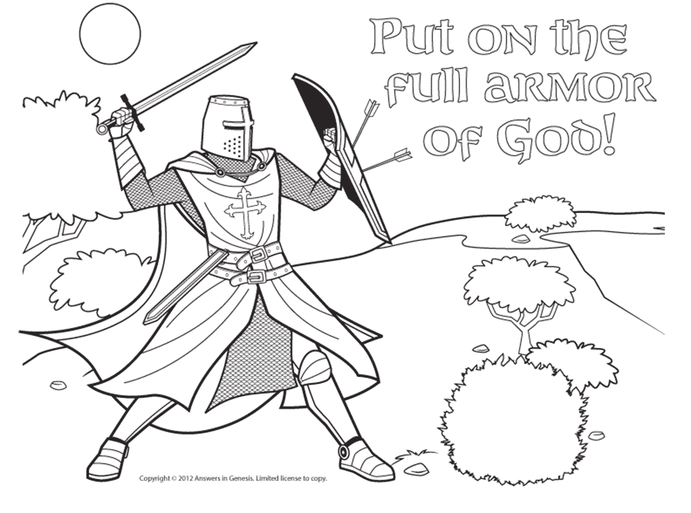 Coloring Pages Free Of Armor God For Kids Lds Heavenly