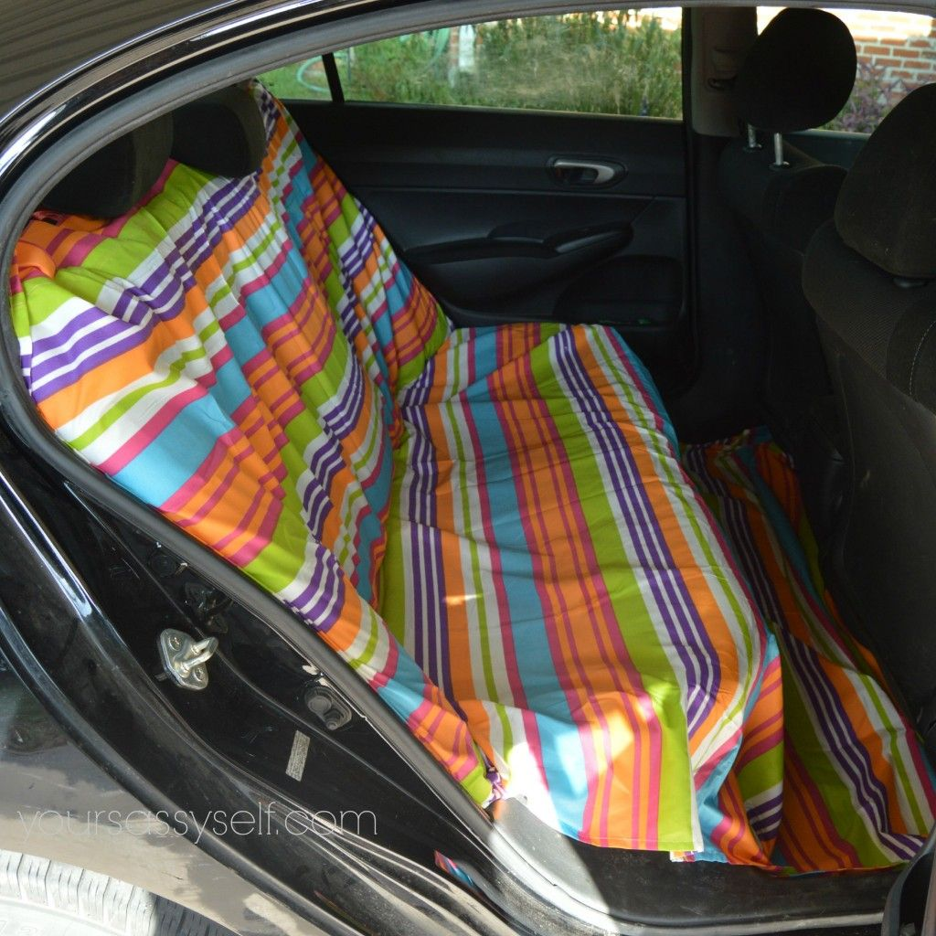 No Sew DIY Backseat Cover to Keep Your Car So Fresh and So