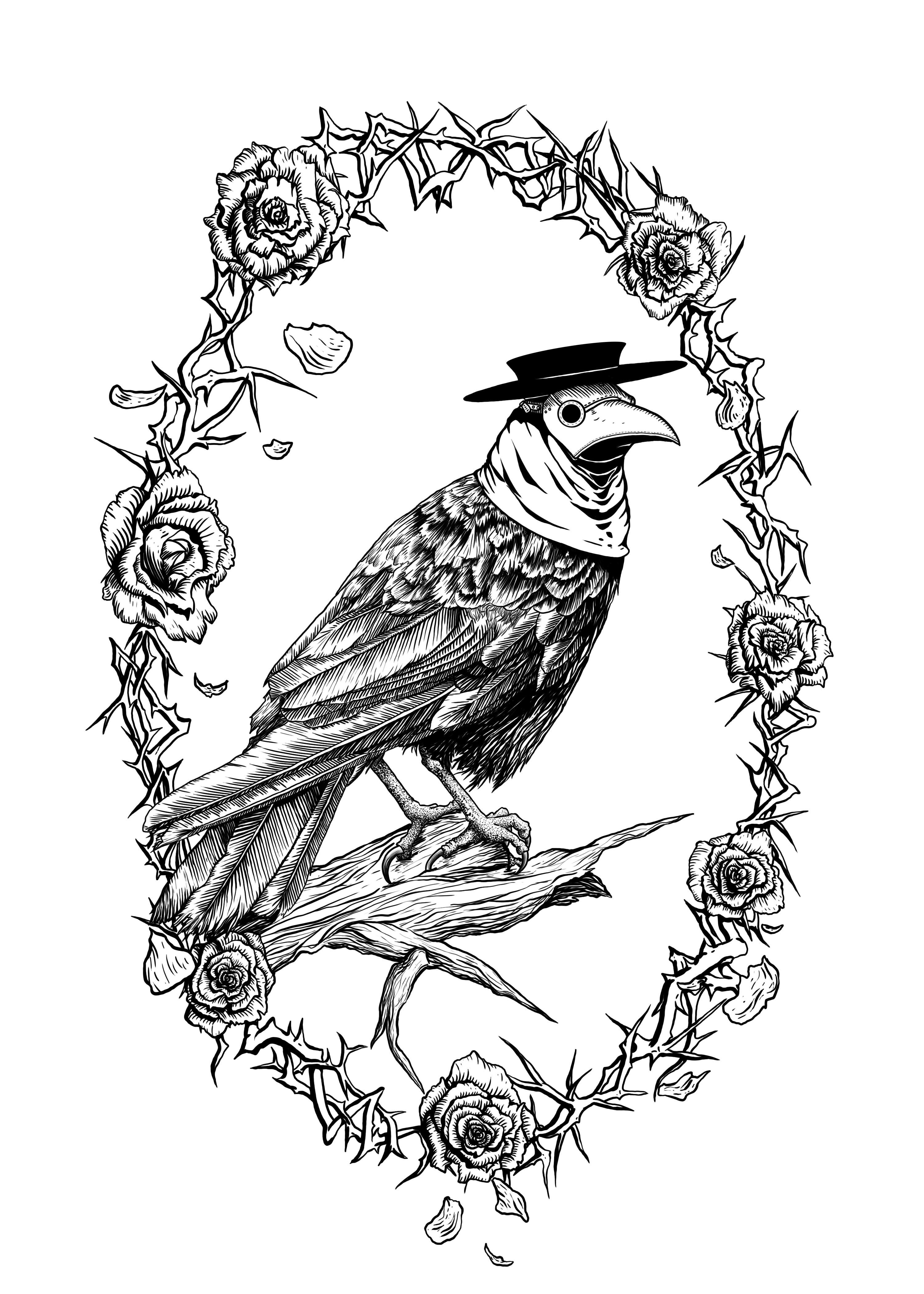 6f618a94cb2e8 Crow Plague Doctor digital art 3000px x 4200px | Costumes in 2019 ...