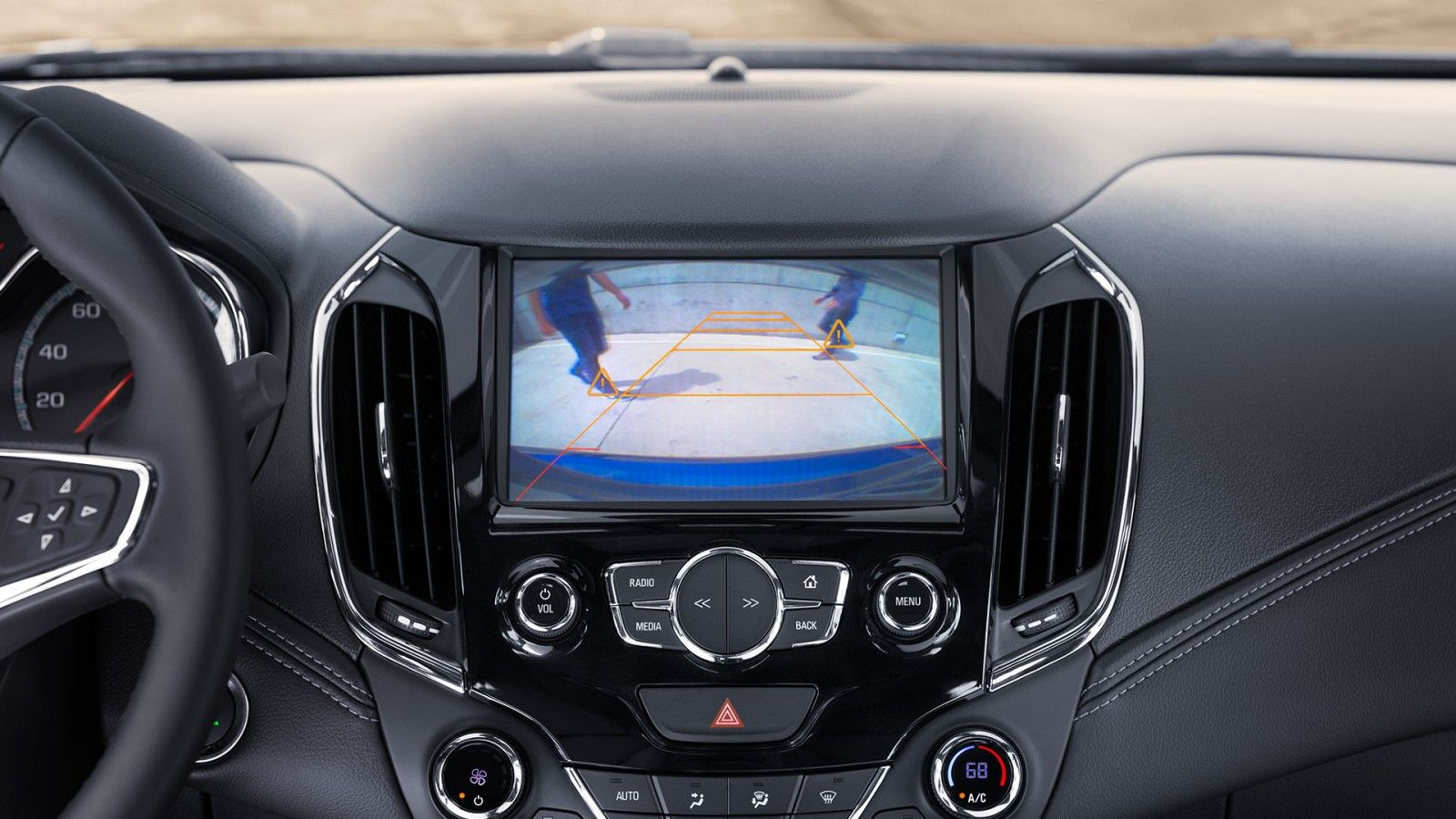 2017 Cruze Compact Car Interior touchscreen display