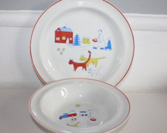 Childrens Plate Set Touhu By Arabia Finland Plate Sets Tableware Plates