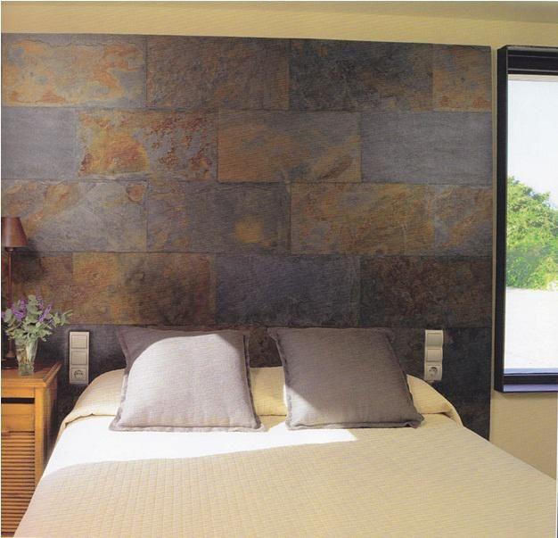 Piedra pizarra oxidada decoraci n casa pinterest - Revestimiento paredes interiores pizarra ...
