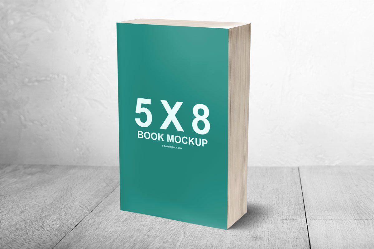 Book Cover Template Psd Luxury 5 X 8 Mass Market Paperback 3d Book Mockup Covervault Book Cover Template Cover Template Book Cover Mockup