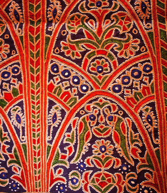 Ahir Embroidery Closeup  Embroidery And India