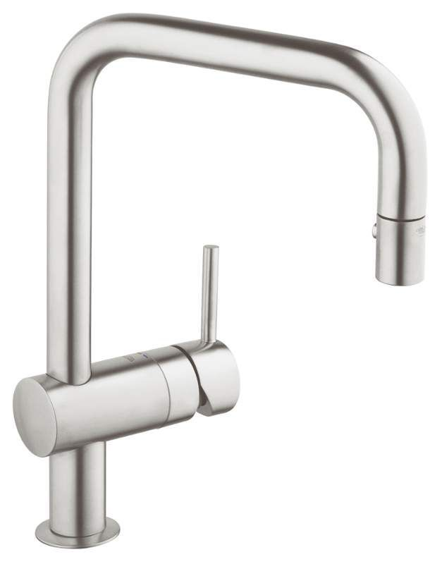 Grohe 32 319 Minta Pull Down Kitchen Faucet With 2 Function Locking