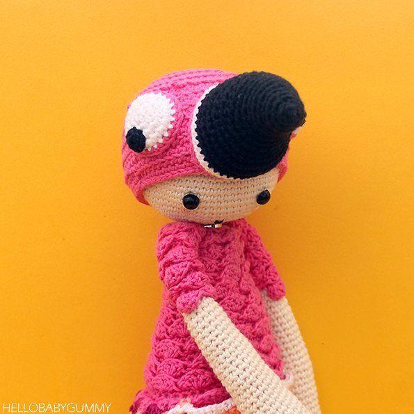 Amigurumi Pattern Baby Gummy Flamingo Amigurumi Flamencotrn De