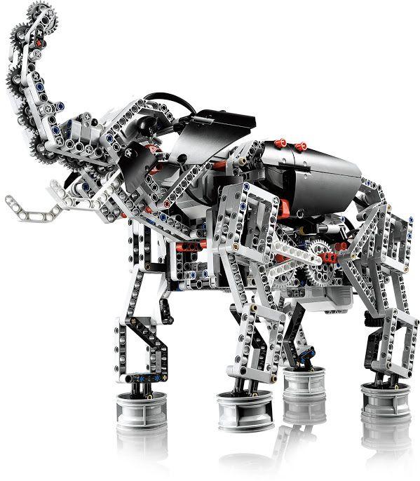Elefante robótico feito de Lego Mindstorms