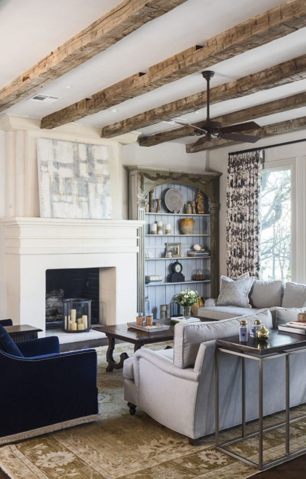 Reclaimed Wood Beams Elmwood, Wood Beams In Living Room Ceiling