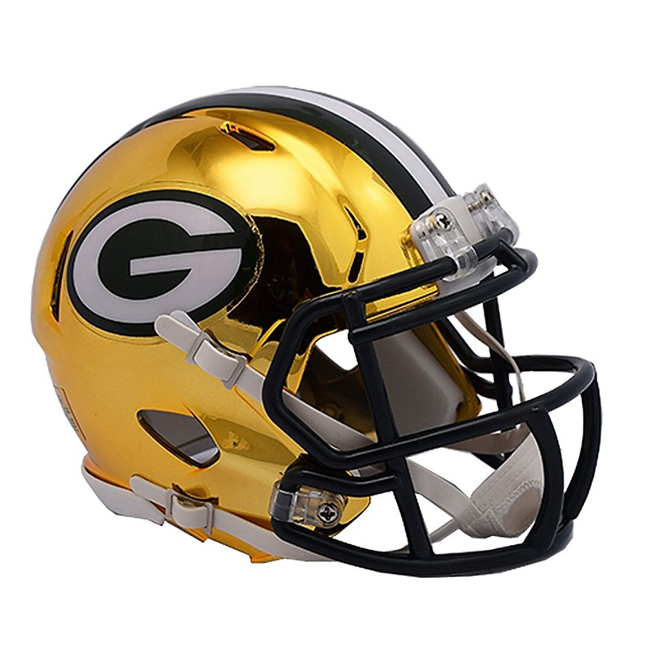 Riddell Nfl Green Bay Packers Chrome Series Speed Mini Football Helmet In 2020 Green Bay Packers Helmet Football Helmets Mini Football Helmet