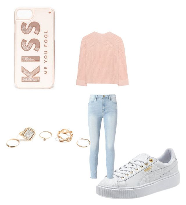 """""""Untitled #1"""" by reham-elsayed on Polyvore featuring Frame, iHeart, GUESS and Kate Spade"""