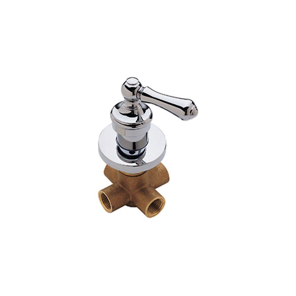 3 Way Shower Diverter Valve Brushed Nickel.Pfister Single Handle 4 Port Diverter Valve Trim Kit In