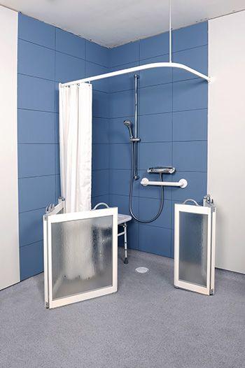 Open Set Of Wf3 Half Height Shower Doors