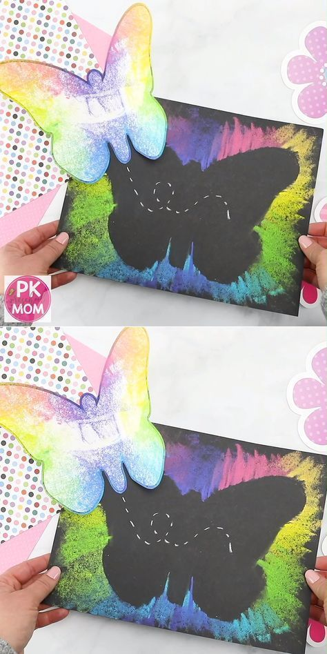 Spring Art- Butterfly and Chalk