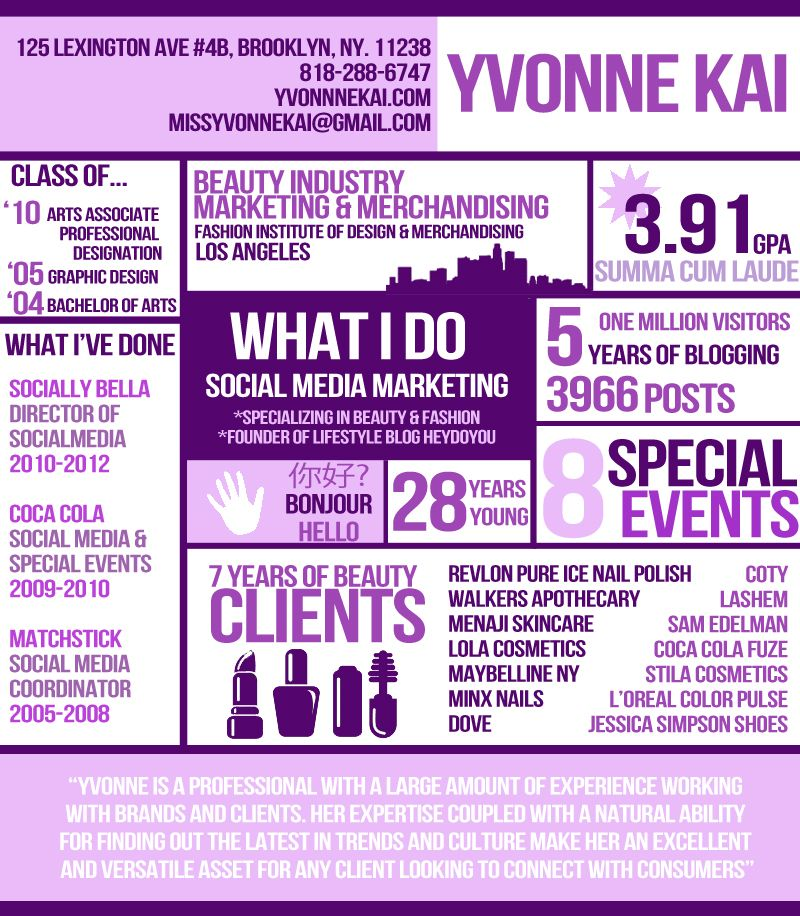 10 Inspiring Infographic Resumes | Infographic Resume, Infographic