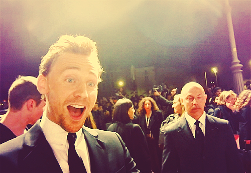 -Surprised Hiddles.... You are too adorable